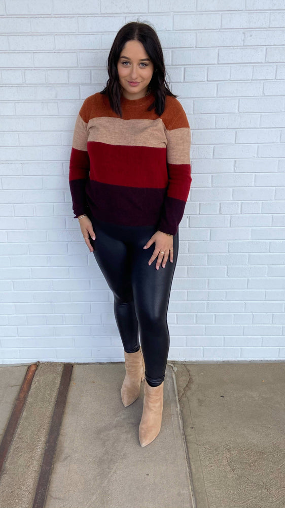 Load image into Gallery viewer, Russet Combo Paulette Sweater