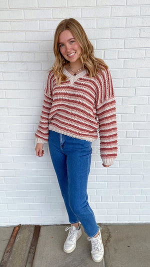 Load image into Gallery viewer, Ginger Rose Stripe Sweater
