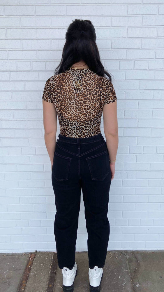 Load image into Gallery viewer, Leopard Mesh Bodysuit