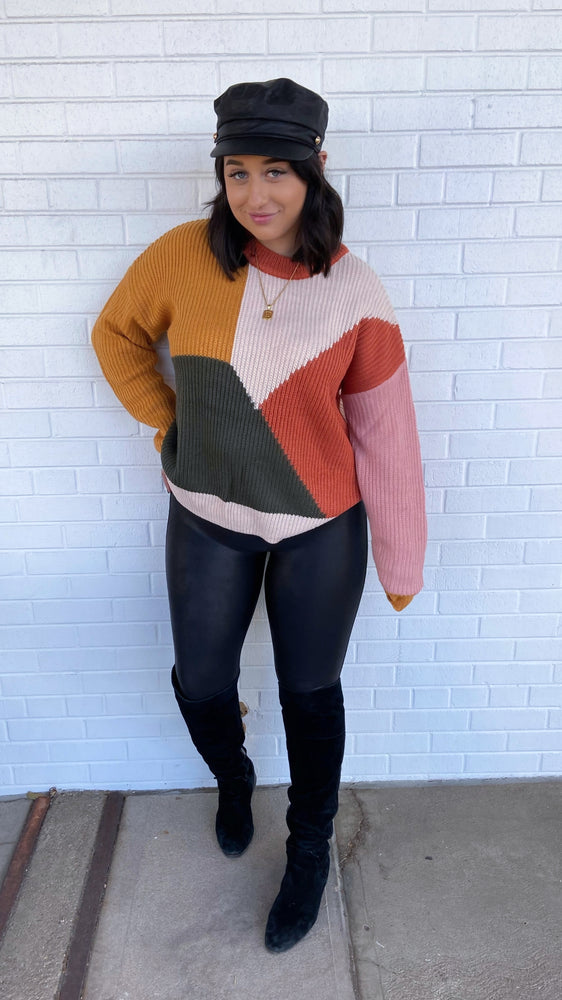 Rust and Mustard Color Block