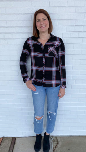 Load image into Gallery viewer, Black Silver Dollar Charley Flannel