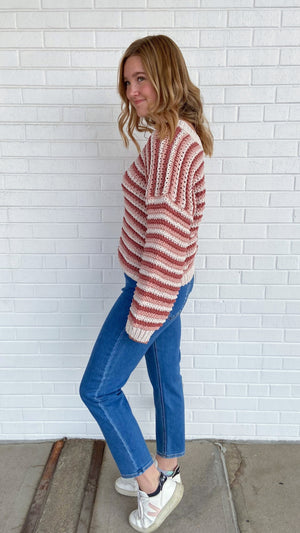 Ginger Rose Stripe Sweater