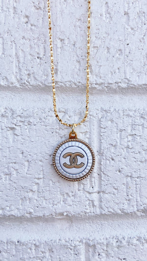 Gold and White Chanel Necklace