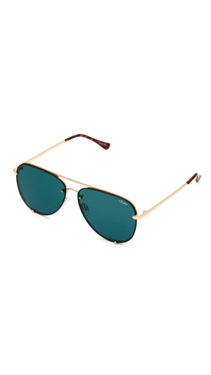 Gold Mini Rimless High Key Sunnies