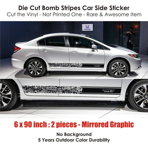BSK 007 - honda i-vtec dohc bomb stripes stickers car kit tow drift race drag hellaflush hr-v cr-v mugen spoon racing japan - Infinity270  - 1