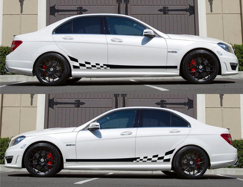 SPK-133 mercedes benz c63 w204 amg germany euro racing stripes sticker decal kit daimler ag c-class stance hp oem low - Infinity270