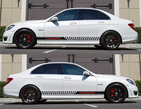 SPK-134 mercedes benz c63 w204 amg germany euro racing stripes sticker decal kit daimler ag c-class supercharged tired wheel turbo - Infinity270