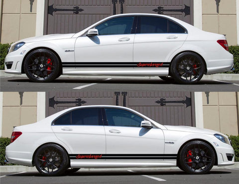 SPK-137 mercedes benz c63 w204 amg germany euro racing stripes sticker decal kit daimler ag c-class supercharged turbo sports low - Infinity270