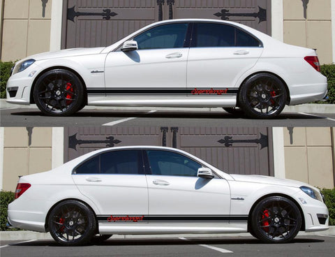 SPK-138 mercedes benz c63 w204 amg germany euro racing stripes sticker decal kit daimler ag c-class supercharged bluetec 4matic drive - Infinity270