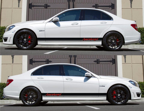 SPK-139 mercedes benz c63 w204 amg germany euro racing stripes sticker decal kit daimler ag c-class supercharged cdi rally oem driven - Infinity270