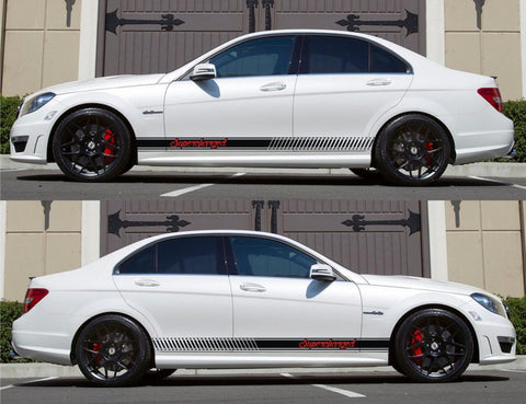 SPK-141 mercedes benz c63 w204 amg germany euro racing stripes sticker decal kit daimler ag c-class supercharged fast nos drag sports - Infinity270