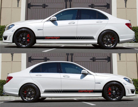 SPK-142 mercedes benz c63 w204 amg germany euro racing stripes sticker decal kit daimler ag c-class supercharged avant garde - Infinity270