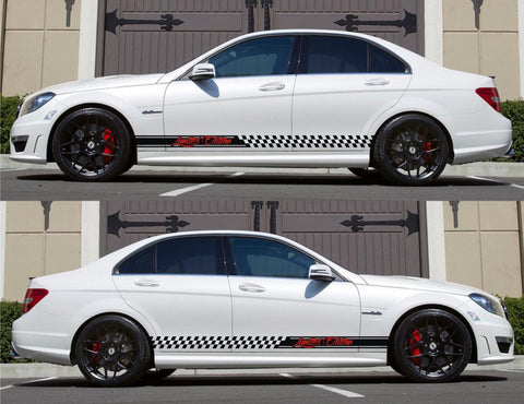SPK-143 mercedes benz c63 w204 amg germany euro racing stripes sticker decal kit daimler ag c-class limited edition drive fast monster - Infinity270