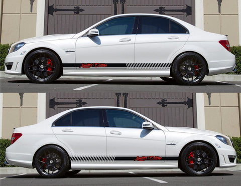 SPK-145 mercedes benz c63 w204 amg germany euro racing stripes sticker decal kit daimler ag c-class limited edition formula low speed - Infinity270