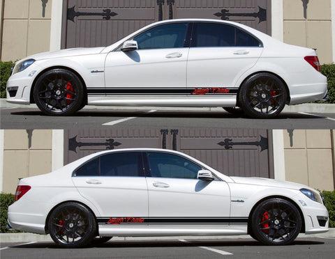 SPK-146 mercedes benz c63 w204 amg germany euro racing stripes sticker decal kit daimler ag c-class limited edition drift gas speed - Infinity270