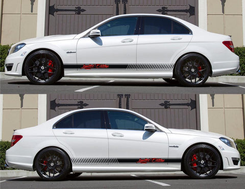 SPK-149 mercedes benz c63 w204 amg germany euro racing stripes sticker decal kit daimler ag c-class limited edition monster flush nos - Infinity270