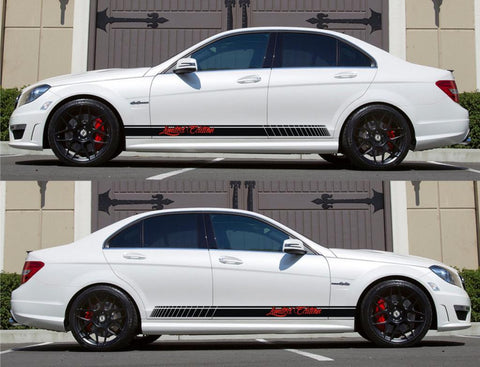SPK-150 mercedes benz c63 w204 amg germany euro racing stripes sticker decal kit daimler ag c-class limited edition cbu drive fast - Infinity270