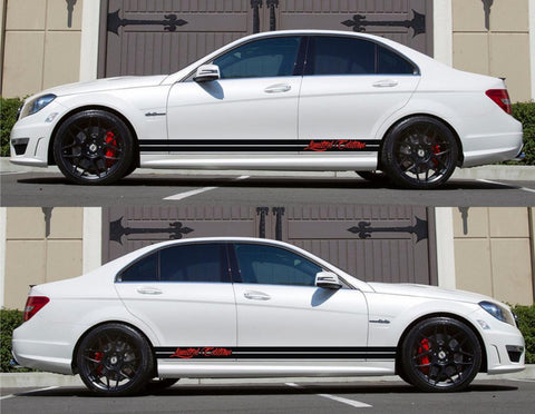 SPK-151 mercedes benz c63 w204 amg germany euro racing stripes sticker decal kit daimler ag c-class limited edition boost drive speed - Infinity270
