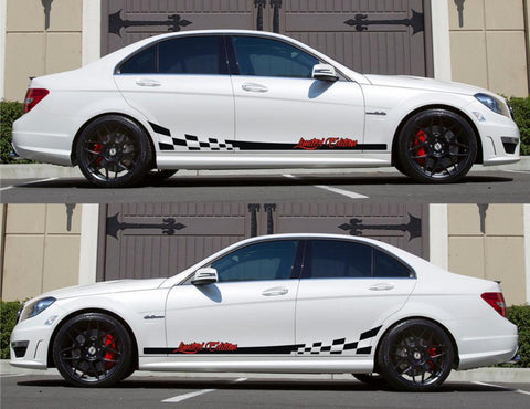 SPK-152 mercedes benz c63 w204 amg germany euro racing stripes sticker decal kit daimler ag c-class limited edition low slow fast - Infinity270