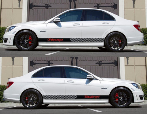 SPK-154 mercedes benz c63 w204 amg germany euro racing stripes sticker decal kit daimler ag c-class turbocharged boost police oem - Infinity270