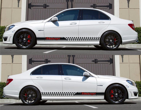 SPK-155 mercedes benz c63 w204 amg germany euro racing stripes sticker decal kit daimler ag c-class turbocharged sedan sports 4 doors - Infinity270