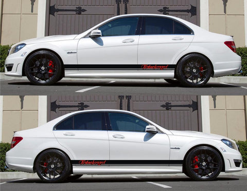 SPK-156 mercedes benz c63 w204 amg germany euro racing stripes sticker decal kit daimler ag c-class turbocharged sedan matic drive - Infinity270