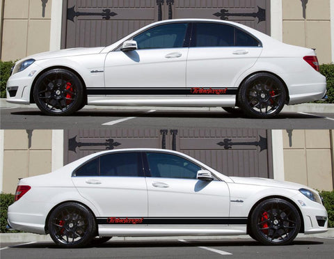 SPK-157 drift mercedes benz c63 w204 amg germany euro racing stripes sticker decal kit daimler ag c-class turbocharged - Infinity270