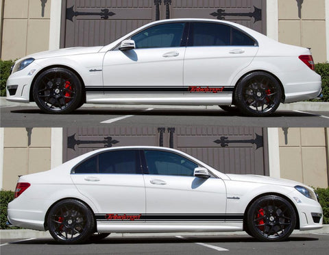 SPK-158 mercedes benz c63 w204 amg germany euro racing stripes sticker decal kit daimler ag c-class boost drive turbocharged - Infinity270