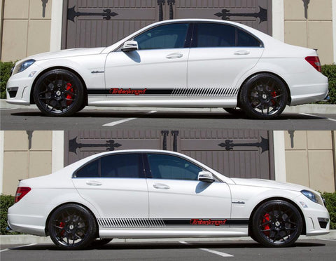 SPK-161 mercedes benz c63 w204 amg germany euro racing stripes sticker decal kit daimler ag c-class drive drift fast turbocharged - Infinity270