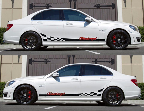 SPK-163 mercedes benz c63 w204 amg germany euro racing stripes sticker decal kit daimler ag c-class modified tuned turbocharged - Infinity270