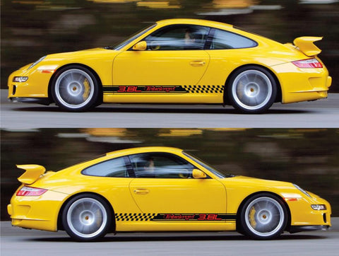 SPK-178 porsche 911 gt3 racing stripes sticker decal kit rs performance sports car turbocharged AG vw volkswagen 3.8L modified - Infinity270
