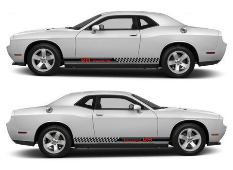 dodge challenger sticker racing stripes stickers decal kit srt sxt hemi pentastar sohc muscle car v8 supercharged boost - Infinity270