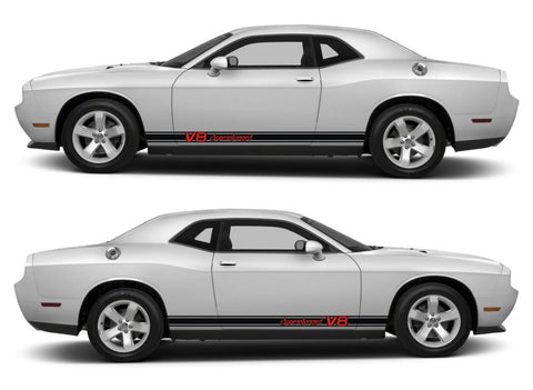 dodge challenger sticker racing stripes stickers decal kit srt sxt hemi pentastar sohc muscle car v8 supercharged modified - Infinity270