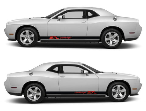 dodge challenger sticker racing stripes stickers decal kit srt sxt hemi pentastar sohc muscle car 5.7L supercharged speed boost cummins - Infinity270