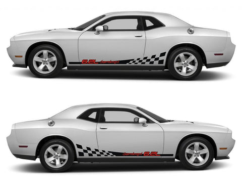 dodge challenger sticker racing stripes stickers decal kit srt sxt hemi pentastar sohc muscle car 6.2L supercharged sports fast turbo - Infinity270