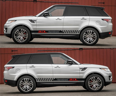 SPK-260 range rover sport land rover racing stripes sticker decal kit suv L494 svr united kingdom GB jaguar 3.0L supercharged turbo monsters - Infinity270