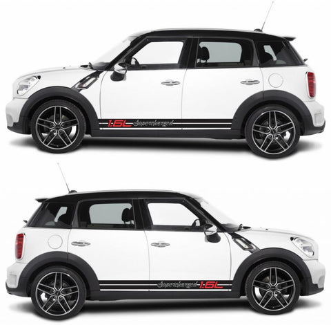 SPK-268 mini cooper countryman R60 racing stripes sticker works decal kit turbo john crossover suv one all4 - Infinity270
