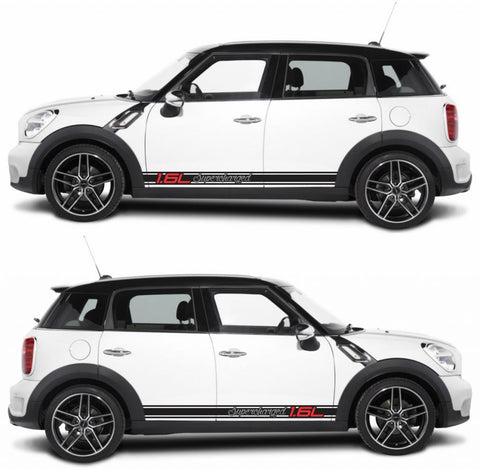 SPK-269 mini cooper countryman R60 racing stripes sticker works decal kit turbo john crossover suv diesel drift boost - Infinity270
