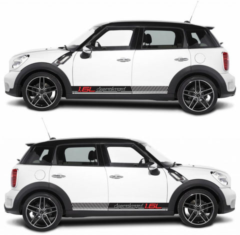 SPK-270 mini cooper countryman R60 racing stripes sticker works decal kit turbo john crossover suv all4 boost drive fast - Infinity270