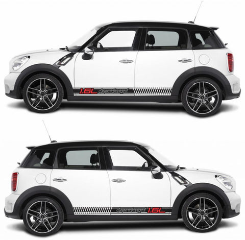 SPK-271 mini cooper countryman R60 racing stripes sticker works decal kit turbo john crossover suv all4 speed monsters - Infinity270