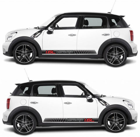 SPK-273 mini cooper countryman R60 racing stripes sticker works decal kit turbo john crossover suv fast monster drive boost - Infinity270