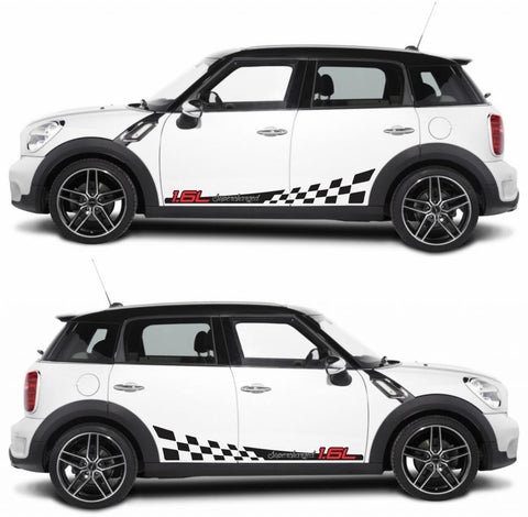SPK-274 mini cooper countryman R60 racing stripes sticker works decal kit turbo john crossover suv boost all4 diesel turbo - Infinity270