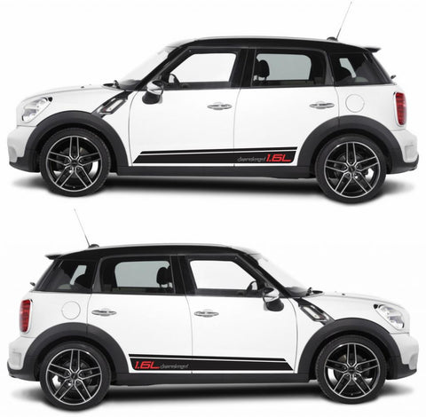 SPK-275 mini cooper countryman R60 racing stripes sticker works decal kit turbo john crossover suv rally turbo drive speed - Infinity270