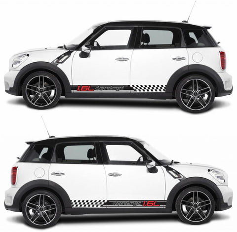 SPK-276 mini cooper countryman R60 racing stripes sticker works decal kit turbo john crossover suv monsters fast boost - Infinity270