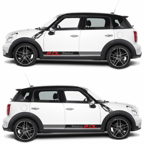 SPK-279 mini cooper countryman R60 racing stripes sticker works decal kit turbo john crossover suv motorsports turbo boost - Infinity270