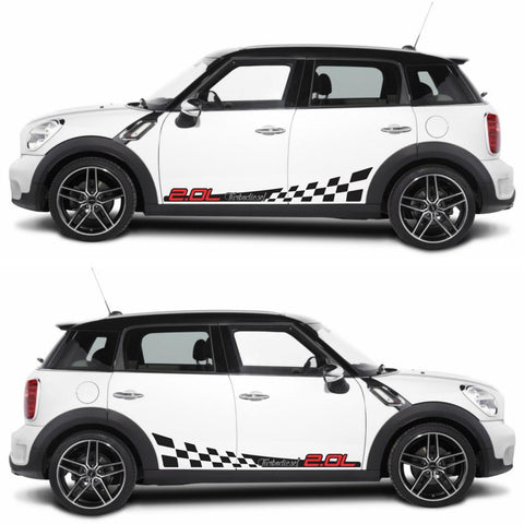 SPK-283 mini cooper countryman R60 racing stripes sticker works decal kit turbo john crossover suv modified fast tuned all4 - Infinity270