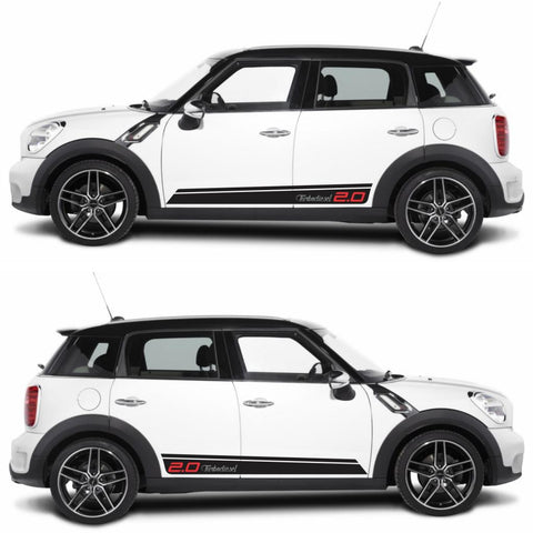 SPK-284 mini cooper countryman R60 racing stripes sticker works decal kit turbo john crossover suv tuned boost drive fast - Infinity270