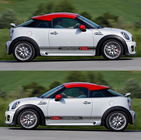 SPK-286 mini cooper coupe roadster r58 r59 racing stripes sticker works decal kit turbo john one all4 - Infinity270