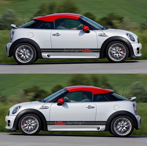 SPK-287 mini cooper coupe roadster r58 r59 racing stripes sticker works decal kit turbo john diesel drift boost - Infinity270