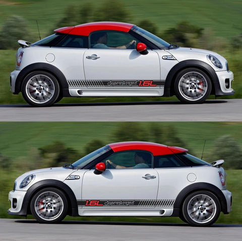 SPK-289 mini cooper coupe roadster r58 r59 racing stripes sticker works decal kit turbo john all4 speed monsters - Infinity270